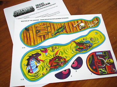 $8.19 • Buy MOTU Masters Of The Universe Replacement Stickers / Decals  For SNAKE MOUNTAIN