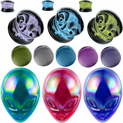 $7.99 • Buy Glass Plugs Ear Gauges Taper Ear Plugs Sold In Pairs Ear Stretcher Expand