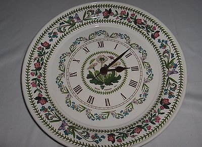 Portmeirion Botanic Garden Round Kitchen Wall Clock Daisy Quartz VG • 57.92£