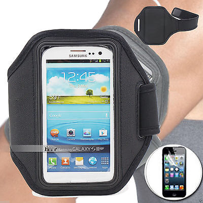 AU5.47 • Buy Black Running GYM Armband Case Cover For Nokia Lumia 925+Screen Protector AU