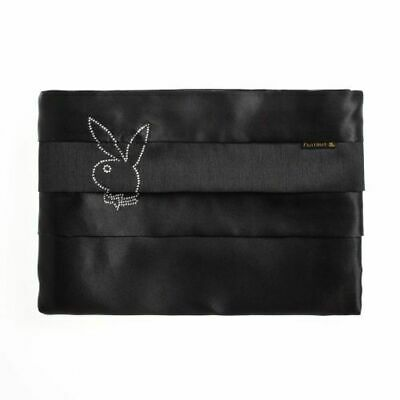 AU14.99 • Buy PLAYBOY BUNNY Black Glitterazzi Diamante Logo Faux Satin SINGLE Sheet Set