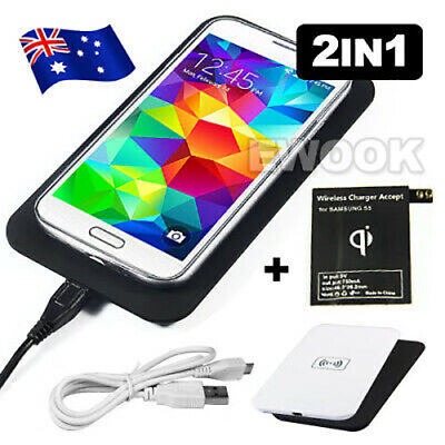 AU14.45 • Buy Qi Wireless Charger Charging Pad + Receiver Kit For Samsung Galaxy S5 G900