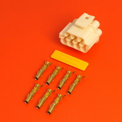 £9.50 • Buy Lucas Rists 7 Way White Receptacle TTS Series Electrical Wiring Connector Kit