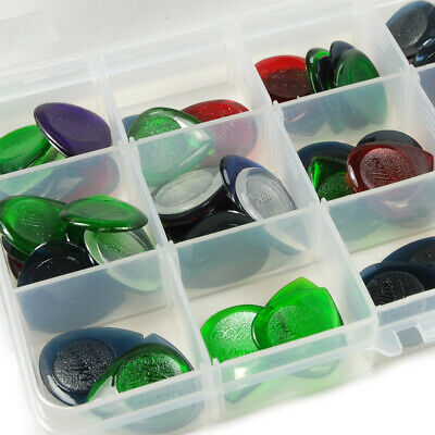 $ CDN15.18 • Buy 100Pcs Guitar Pick Plectrum 1/2/3mm + Pick Storage Case For Acoustic Electric