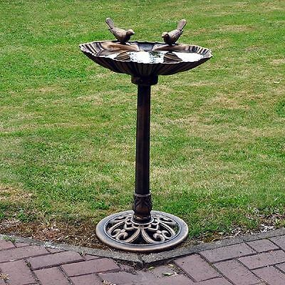 New Traditional Bronze Effect Garden Outdoor Bird Bath Table Weatherproof Free P • 65.49£