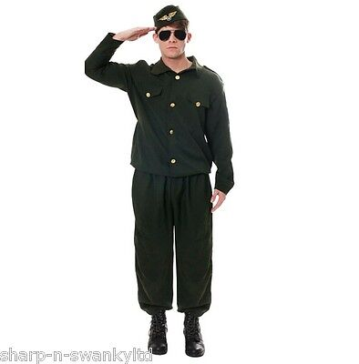 Mens Adult Army Combat Uniform Military Stag Do Fancy Dress Costume Outfit • 14.99£