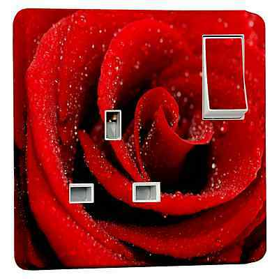 Stika.co Red Rose Flower Power Socket Outlet Sticker For Crabtree 4304 Single • 2.49£