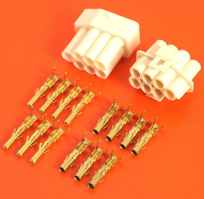 Genuine Lucas Rists 7 Way Natural 3mm Moulding Wiring Connector Kit • 7.50£