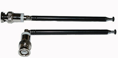 £7.17 • Buy Pair Telescopic Antenna BNC Connector For Radio Scanner/VHF/UHF/Sound Systems