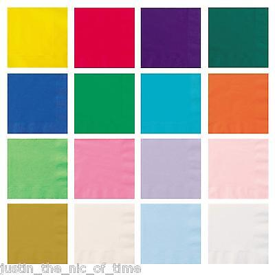 £3.49 • Buy Paper 33cm NAPKINS Party Tableware Plain Solid Colours Events Catering 20 Or 50