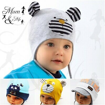 Baby Boy Hat Tie Up Cap Toddler Infant Spring Lace Up Hat Cotton  • 5.49£