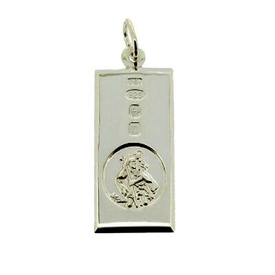 Solid Silver Large St Christopher With Featured Hallmark Ingot Engraving Options • 40£