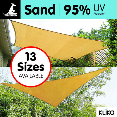 AU36 • Buy New Outdoor Sun Shade Sail Canopy - Sand Cloth Rectangle Square Triangle