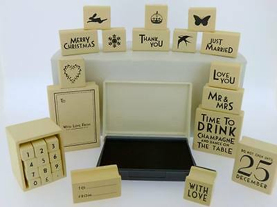 A Range Of East Of India Rubber Stamps Christmas Wedding Favours Card Craft Gift • 2.25£