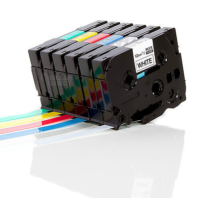 Compatible Tape For Brother TZ Label Cartridge For P-Touch Printer - 12mm X 8m • 4.29£