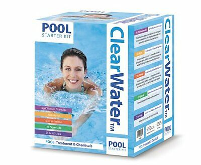 Clearwater Swimming Pool Hot Tub Spa Chemicals Maintenance Starter Kit 500g • 34.99£