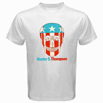 $14.99 • Buy New Hunter S. Thompson Skull Logo Men's White T-Shirt S M L XL 2XL 3XL