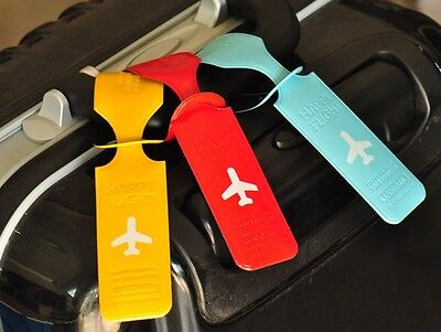 £1.99 • Buy Fab Luggage Baggage Tags Labels Name Address ID Suitcase Travel Bag Trip 6 Color