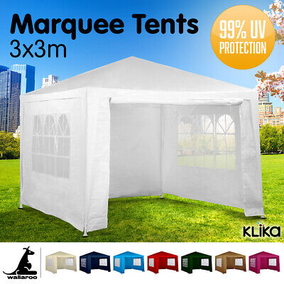 AU72 • Buy New 3x3 GAZEBO PARTY TENT EVENT MARQUEE AWNING OUTDOOR PAVILION CANOPY 3x6 3x9m