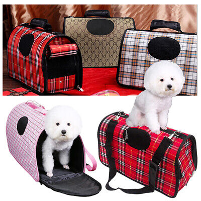 Pet Dog Cat Puppy Portable Travel Carry Carrier Tote Cage Bag Crates Kennel UK • 10.99£