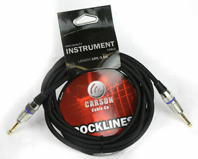 AU16.95 • Buy CARSON 10 Foot Guitar Lead / Instrument Cable Noiseless Braided Black