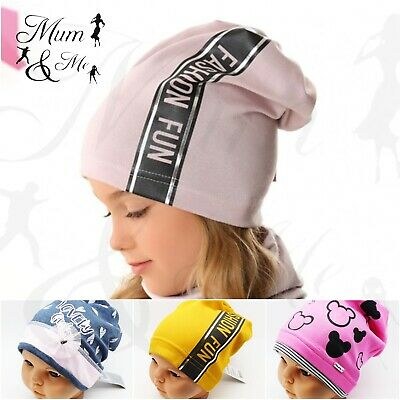 £5.99 • Buy NEW Kids Toddler Girls Hat Baby Cap Striped Beanie Cotton Spring Stretchy Hat