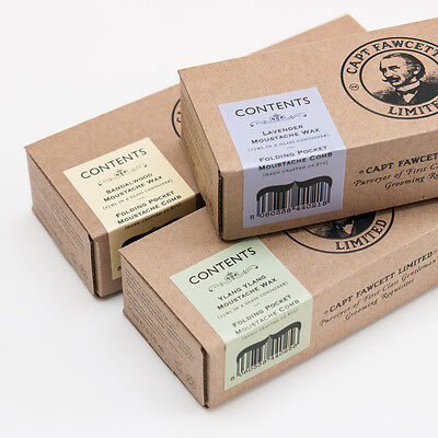 Captain Fawcett's Moustache Wax & Folding Moustache Comb Gift Set • 19.90£