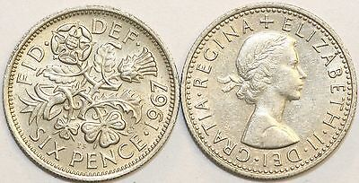 1953 To 1967 Elizabeth II Cupro-Nickel Sixpence Your Choice Of Date  / Year • 0.99£