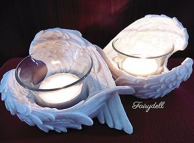 Angel Wing Tea Light Candle Holders ~ Wings Ornament Remembrance Memorial  • 10.95£