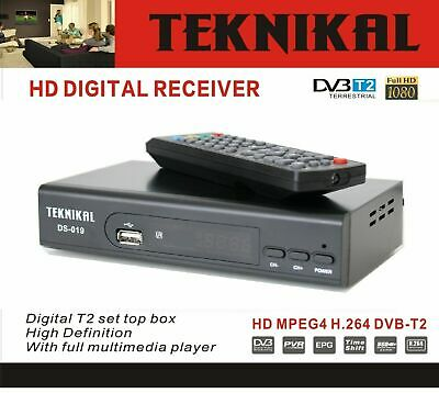 Teknikal HD Freeview Set Top Box Receiver & Recorder For Digital TV Channels USB • 23.90£