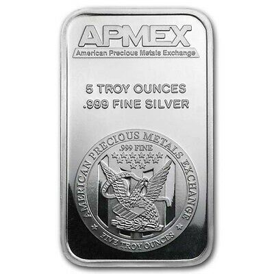$ CDN192.59 • Buy 5 Oz Silver Bar - APMEX - SKU #40249