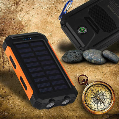 AU69.97 • Buy 10,000mAh Solar Power Bank Dual USB Charger Pack For Mobile Devices & Phones AU