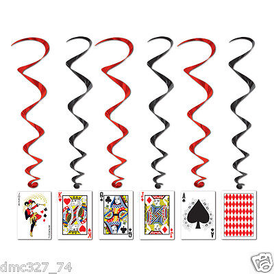 $7.75 • Buy 5 Casino Vegas Alice In Wonderland Decoration PLAYING CARD Hanging WHIRLS Swirls