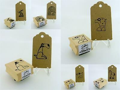 East Of India New Animal Designs Rubber Craft Stamps  • 3.49£