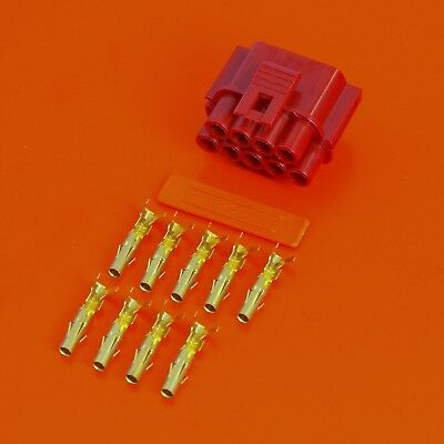 £9.50 • Buy Lucas Rists 9 Way Red Receptacle TTS Series Electrical Wiring Connector Kit