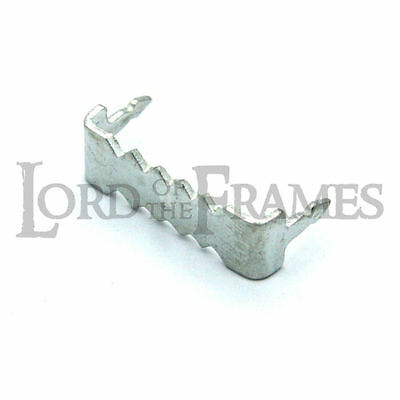 24mm Zinc No-Nail Self-Fix Saw-Tooth Hanger Hook Picture Frame / Canvas Hanging • 2.95£