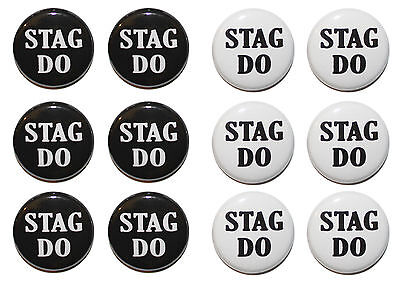 STAG DO Badges / Stag Party Badges / Stag Night Badges - CHOOSE SIZE & COLOUR • 6.49£
