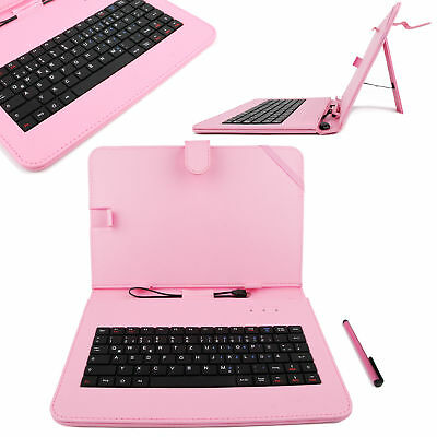 Pink German QWERTZ Keyboard Case For Samsung Galaxy Note 10.1 2014 Edition • 14.99£