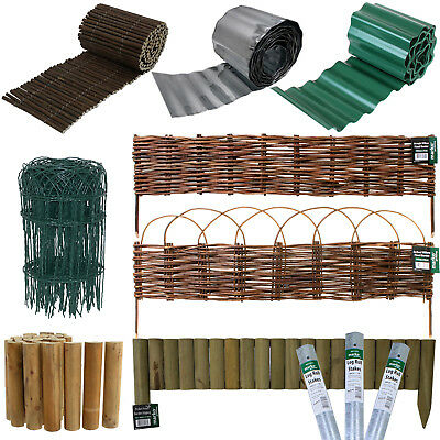 £14.99 • Buy Lawn Edging Edge Border Fence Driveways Grass Pathways Plants Beds Garden Stakes