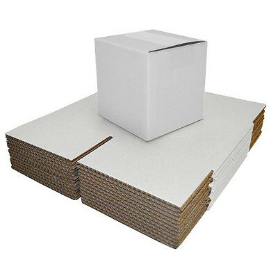 Single Wall White Postal Packing Cardboard Boxes Mailing Packaging Cartons • 16.10£