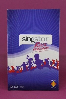 Instruction Booklet/manual Only For Singstar Rock Ballads Ps2 (no Game) ❄️ • 1.51£