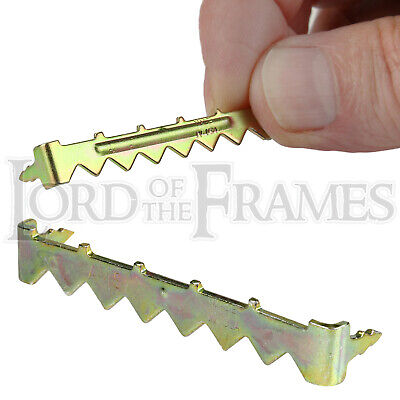 49mm No-Nail Easy Self-Fix Saw-Tooth Hanger Hook Picture Frame / Canvas Hanging • 4.25£