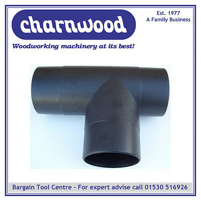 Charnwood 100t 100mm Diameter T-piece For Wood Dust Extraction Hose • 11£