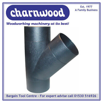 Charnwood 100y 100mm Y-piece Hose Connector For Woodworking Dust Extraction • 12£