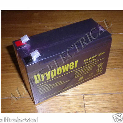 AU44.35 • Buy DryPower 12Volt 7.2AH 6.4mm Spade Sealed Lead Acid Battery - Part # 12SB7.2P