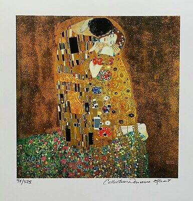 $ CDN62.65 • Buy GUSTAV KLIMT  THE KISS  Estate Signed Limited Edition Fine Art Giclee