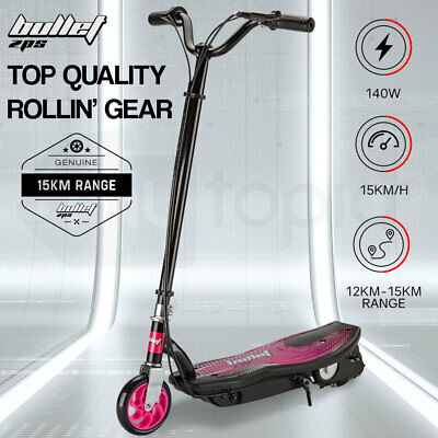 AU165 • Buy BULLET ZPS Kids Electric Scooter 140W Children Toy Pink Girls Battery Ride