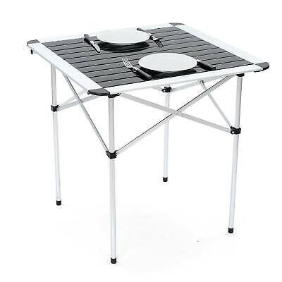 £34.99 • Buy Folding Camping Table Lightweight Portable Outdoor Aluminium Frame With Bag