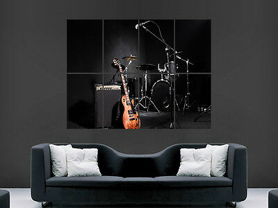 £17.99 • Buy Band Music Drums Kit Guitar   Giant Wall Poster Art Picture Print Large Huge