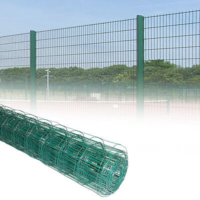1.2M Green PVC Coated Steel Mesh Fencing Wire Garden Galvanised Fence Border NEW • 39.99£